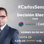 Esta noche a las 8:00 pm Carlos De Peña @alazurda en Decisión Electoral por Telecentro #CarlosSenadorDN #VOTA23 https://t.co/hQ5FaqLPJ3