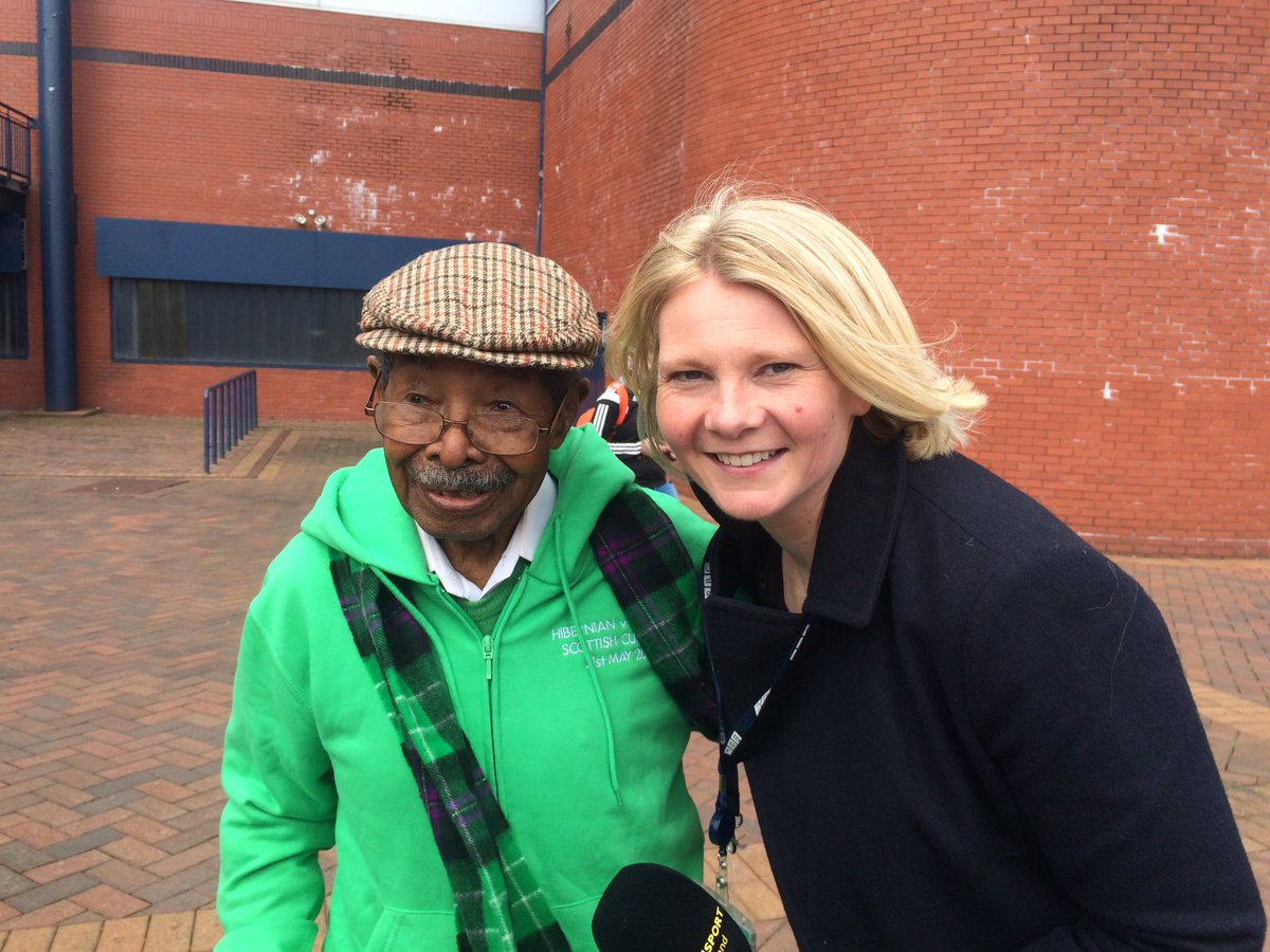 Meet Sam Martinez - he's 106 years young and hoping to finally see #hibs win the Scottish cup. #bbcscot https://t.co/lhFcAhEQtU
