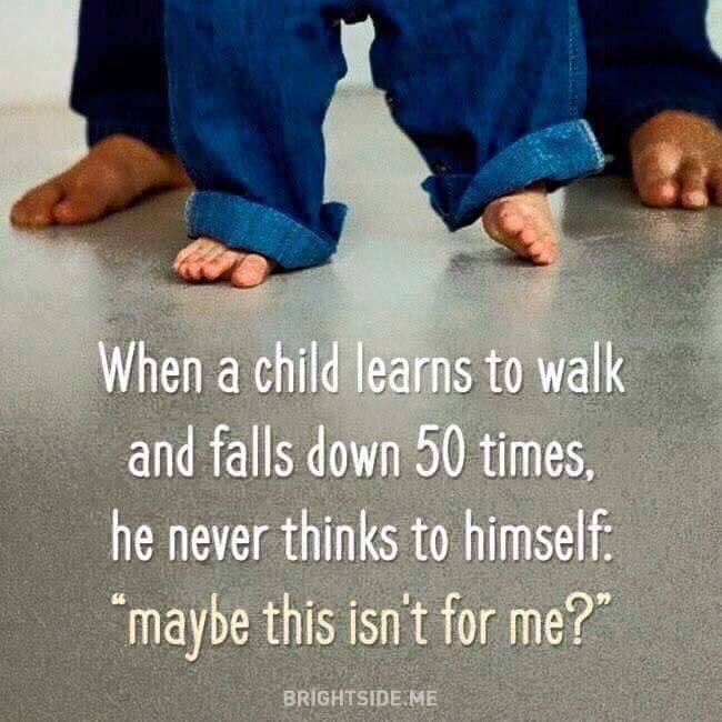 Always get back up ! #resilience #ThinkBIGSundayWithMarsha thought of you @EnterpriseChild !
