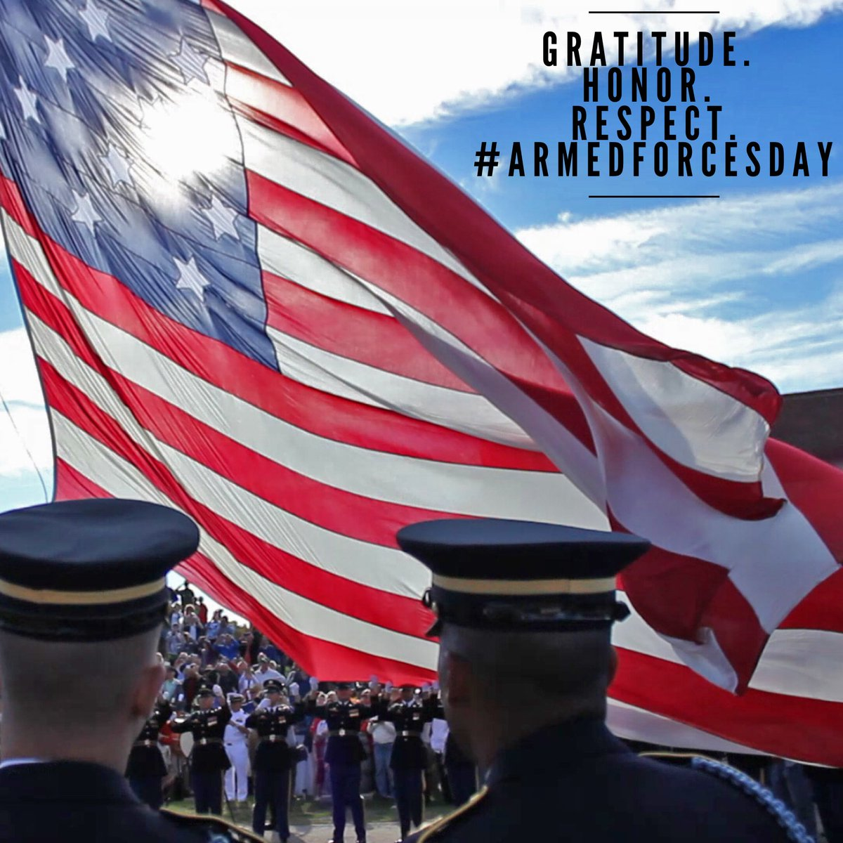 To all currently serving, it is with great gratitude and respect that we honor you today. #ArmedForcesDay