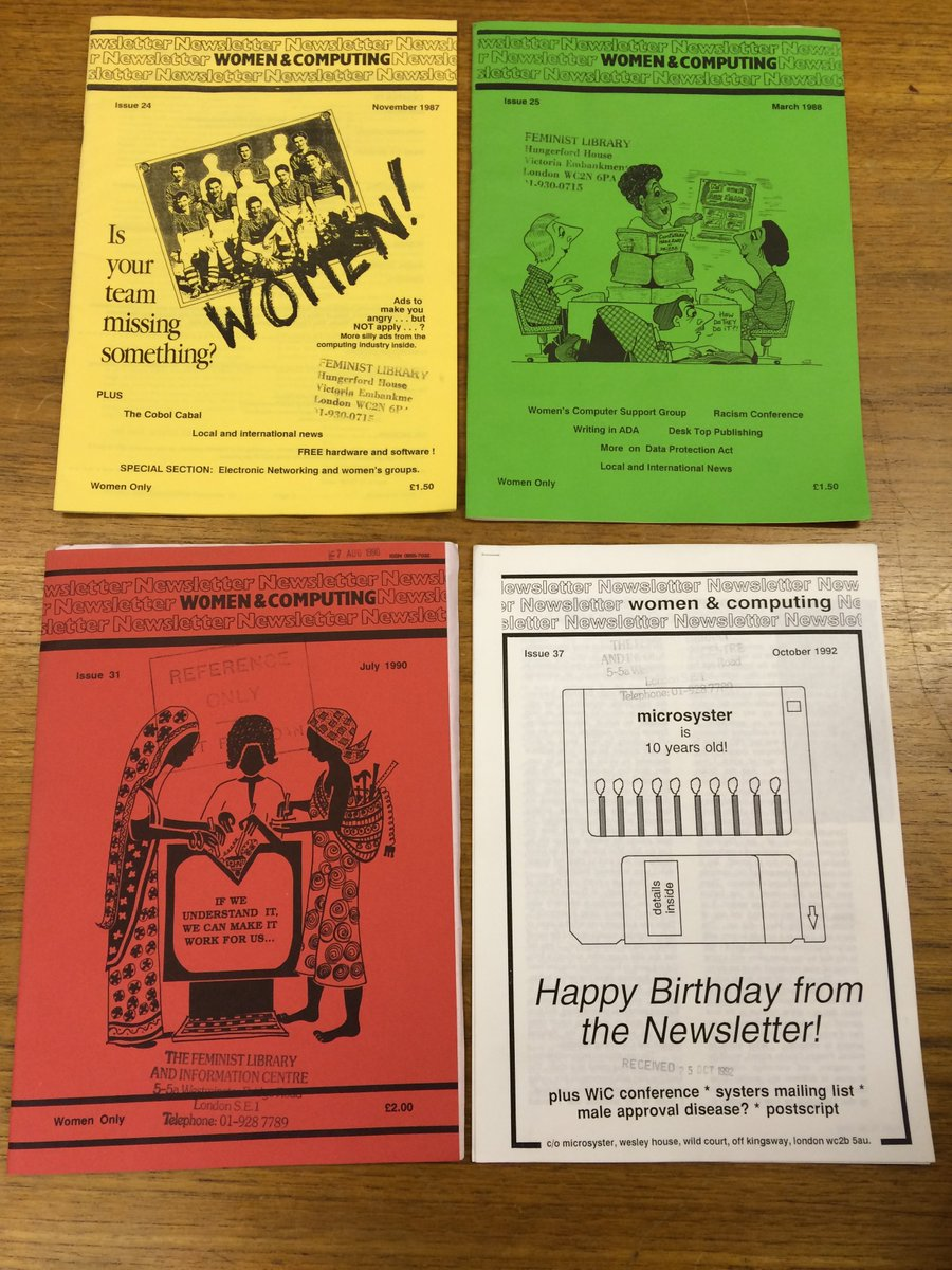 Periodical of the day from our archives: 'Women & Computing', including these issues from 1987, 1988, 1990 & 1992: https://t.co/6D2BDNEXbt