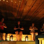 Sauna + yoga = Lapland luxury. #Lapland #Finland https://t.co/KPAhZ2i0uY