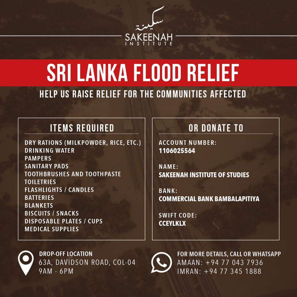 Hey folks, here's how you can support #FloodSL Relief. Everyone's help is much appreciated at this difficult time. https://t.co/D1hBnZiIOL