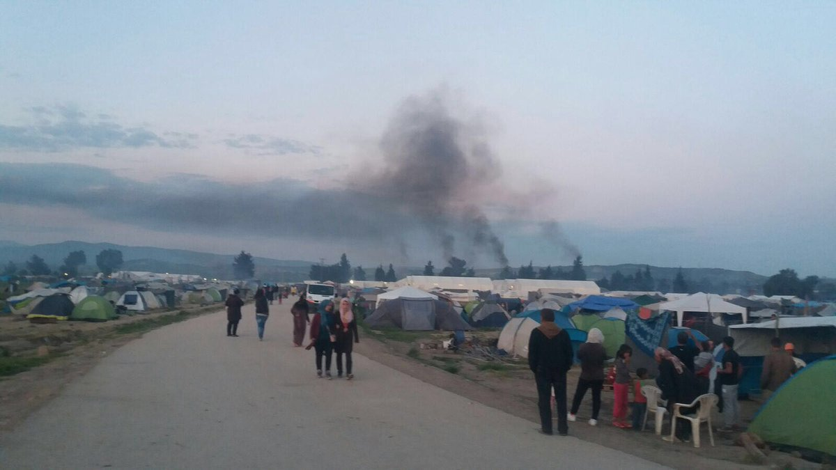 RT @MSF_Sea: This is #Idomeni yesterday - home to thousands of families and full of tear gas. https://t.co/w77FoUaM0J