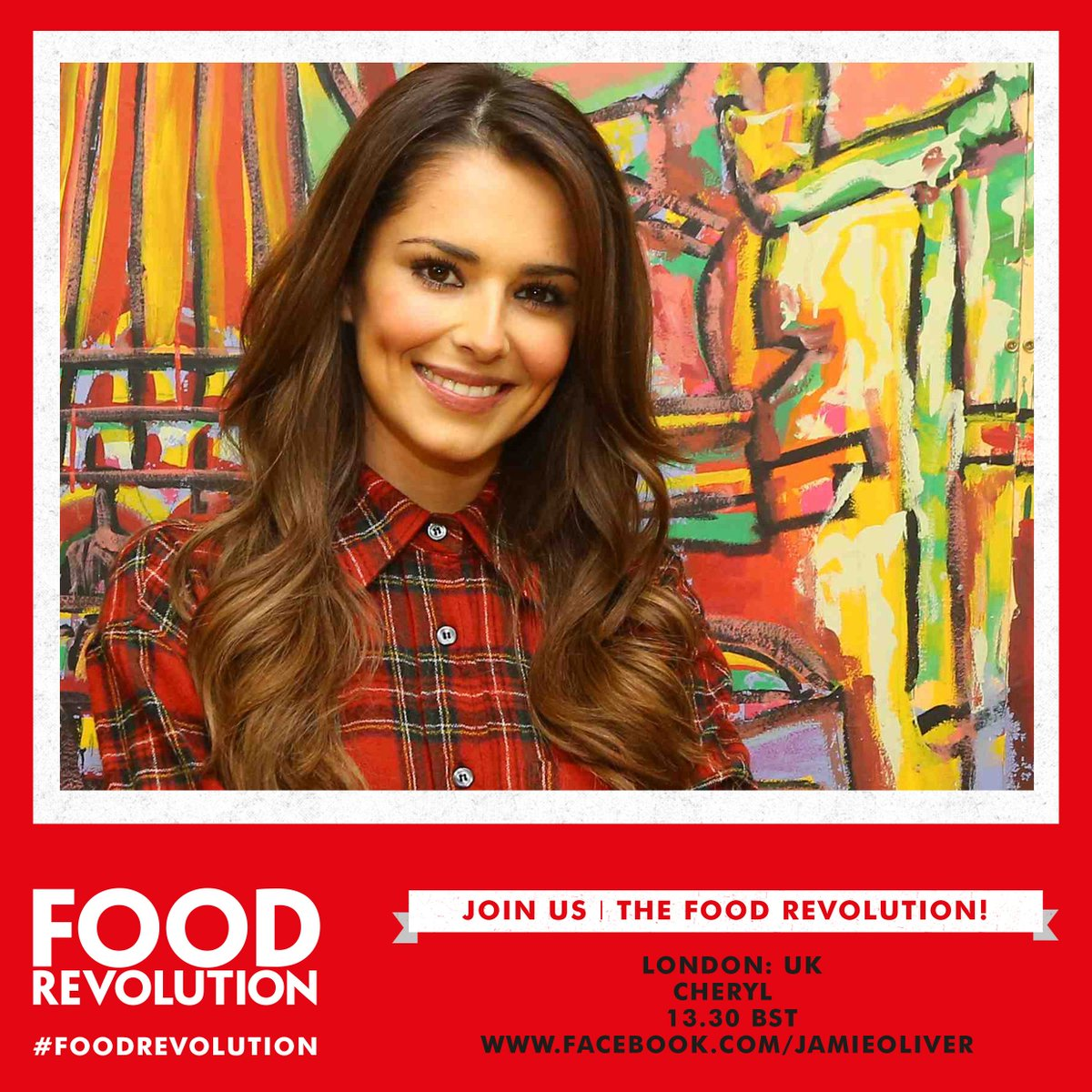 Are you ready @CherylOfficial lets see what those cooking skills are really like xx #FoodRevolution https://t.co/5dj1vbeRnm