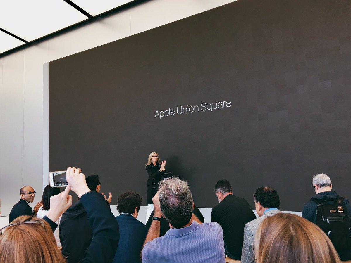 Sneak peek of the new San Francisco Apple Store on Union Square, opening Saturday https://t.co/K8au3evA4K