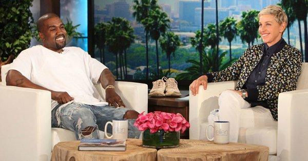 Kanye West stuns Ellen DeGeneres with a lengthy live rant: