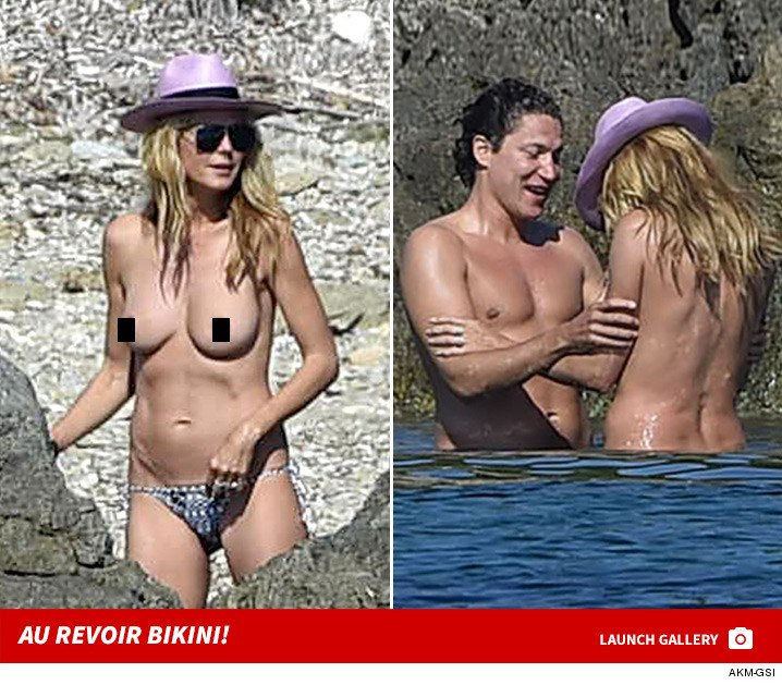Heidi Klum adhered to an age-old adage -- when in France, do as the French do. See The Pics: