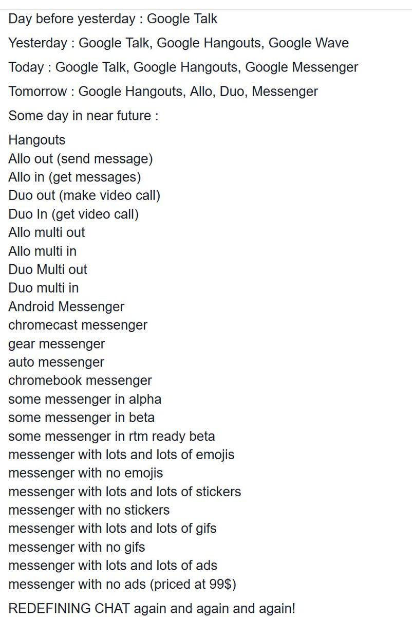 what happens when Google decides that one chat application is not enough https://t.co/8rrdOr2wvE