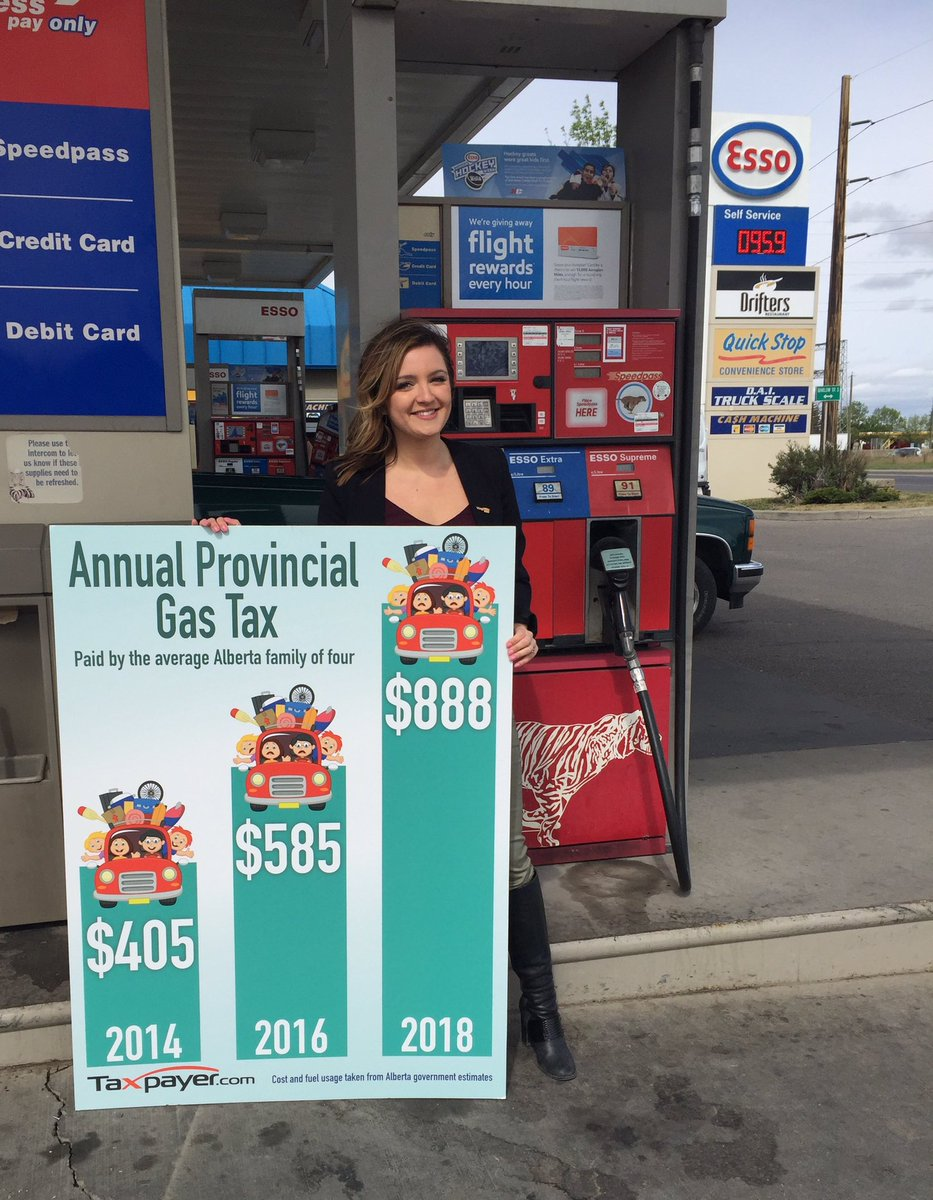 By 2018 the average Alberta family of 4 will pay $888/year in gas taxes alone. #abgov scrap the carbon tax! #ableg https://t.co/5B1IVcRsOB
