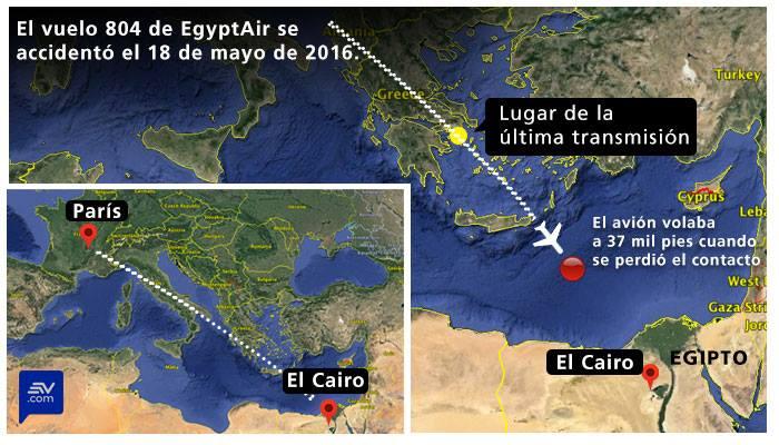 Una explosión a bordo habría derribado al avión de Egyptair