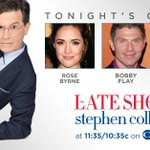 "RT @colbertlateshow: Tonight on #LSSC! Rose Byrne and @bflay! Plus, @alyankovic performs his parody of Brahms' ""Vier ernste Gesänge."" https…"