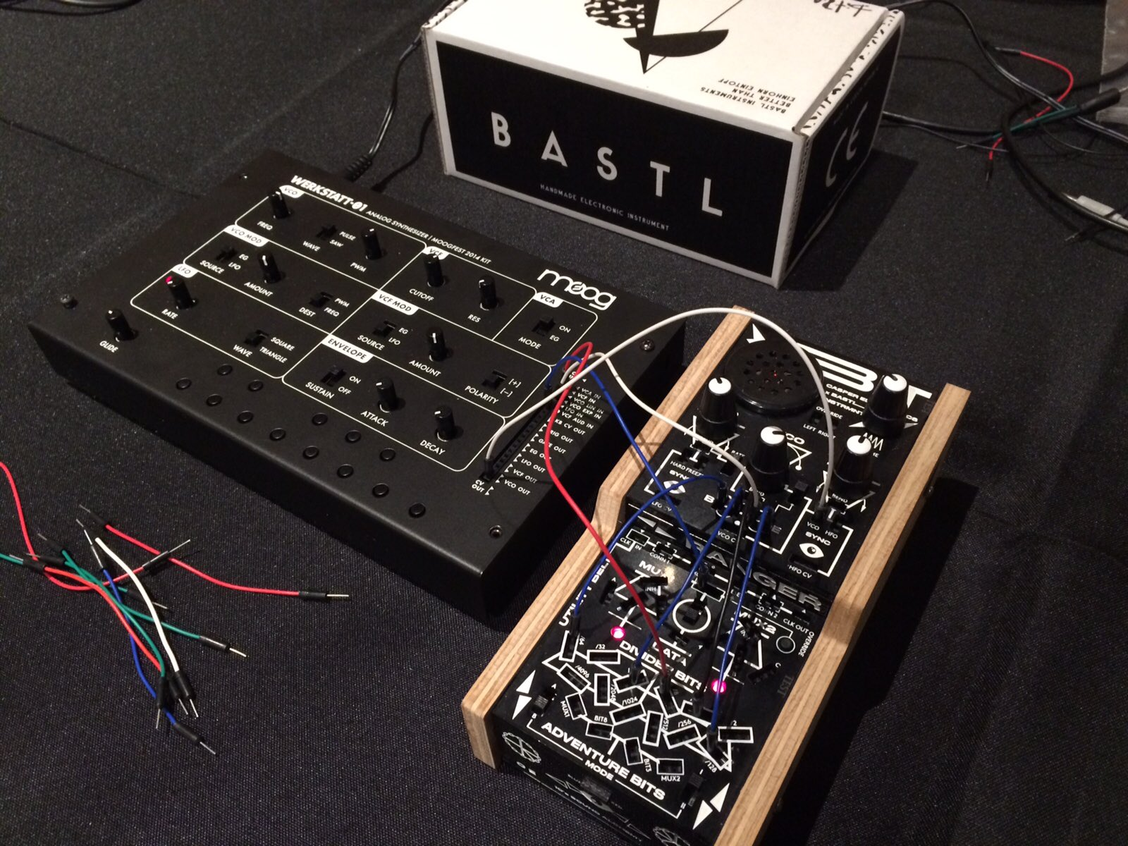Bit Ranger & Werkstatt. Brothers from another mother. ♥️ to @bastlinstrument for the beautiful & stupid fun designs https://t.co/ti6roVtYWH