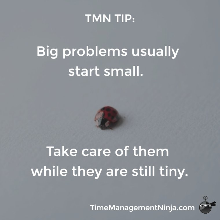 TMN TIP:  Big Problems Usually Start Small. Take Care of Them While They are Still Tiny. https://t.co/9uS7RiRjCX