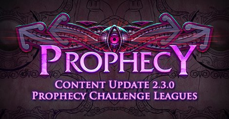 Announcing the Prophecy Challenge Leagues and 2.3.0 Content Update: https://t.co/UvxzkAJl8b https://t.co/npRvRcXCaP