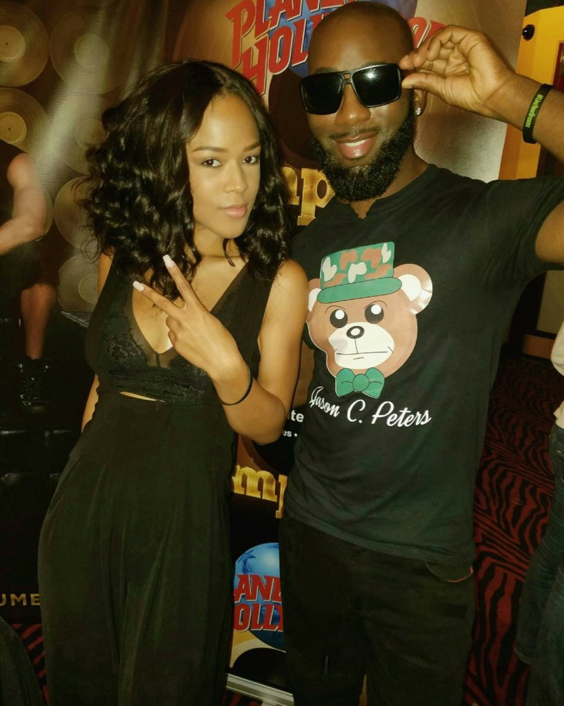 Recording artist @MikeLyrik rocking my Army Bear Tee with @Serayah Order today at https://t.co/a392vPX6ZC https://t.co/niMDjprR9j