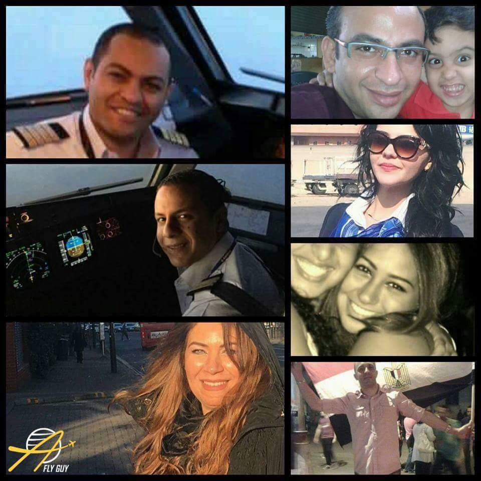 La tripulación del vuelo MS804 de Egyptair. ¡Arriba, siempre arriba!  Foto: A Fly Guy's Cabin Crew Lounge https://t.co/j8G3JHANEM