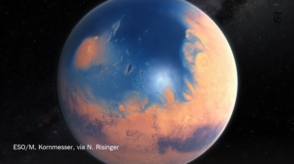 A meteor plunged into Mars's ancient ocean, creating a 400-foot tsunami