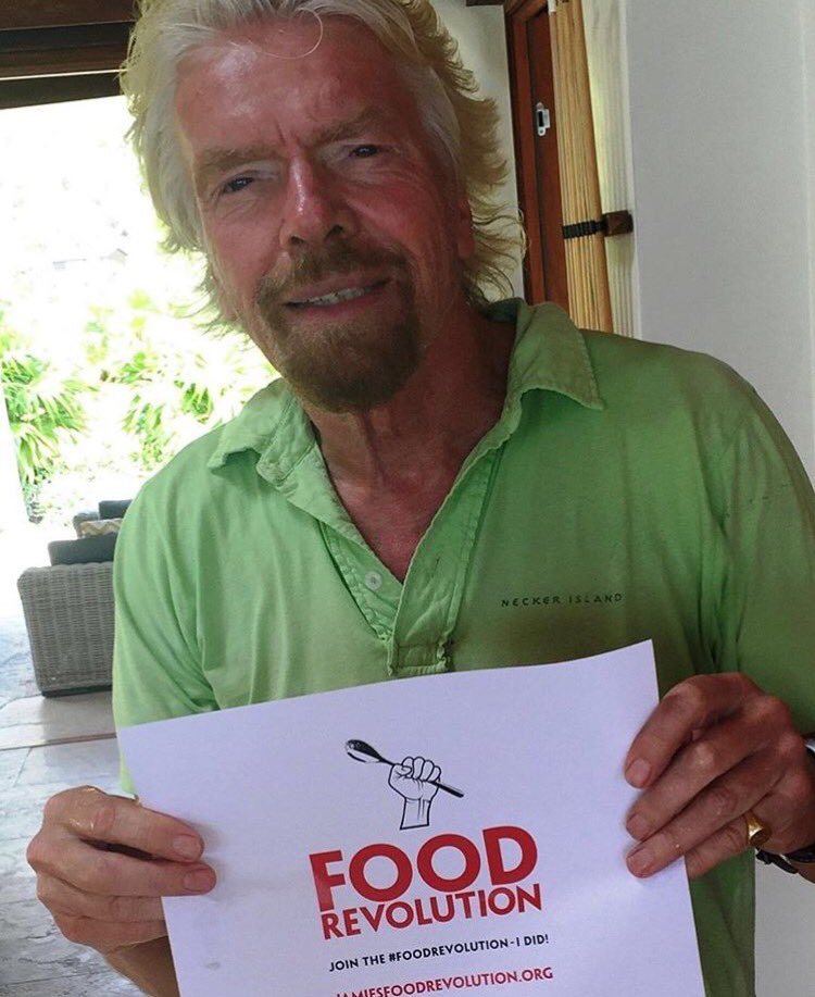 YES! @RichardBranson has signed up to the #FoodRevolution. Join us! https://t.co/wyFXubm8UC https://t.co/Blv7fYfx5m