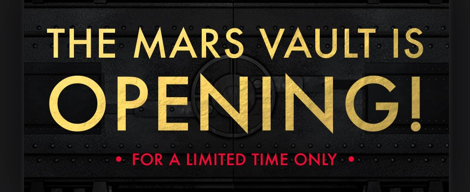RT @MARSStore: The MARS Vault is OPEN, but only thru Sunday! Save up to 50% OFF on this Collection: https://t.co/bDH3mLa0zh https://t.co/Xt…