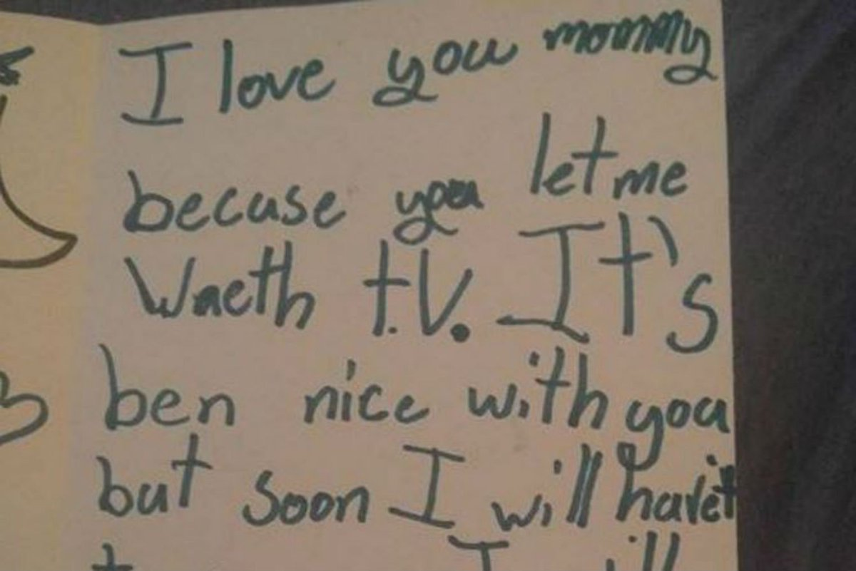 This 7 Year Old Wrote A Cold Blooded Break Up Letter To Her Own