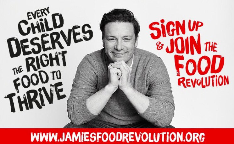 RT @ZoeTheBall: Just signed up & joined #FoodRevolution @jamieoliver join in TWEEPS @FoodRev & now making chicken pie ???????? https://t.co/VwiAw…