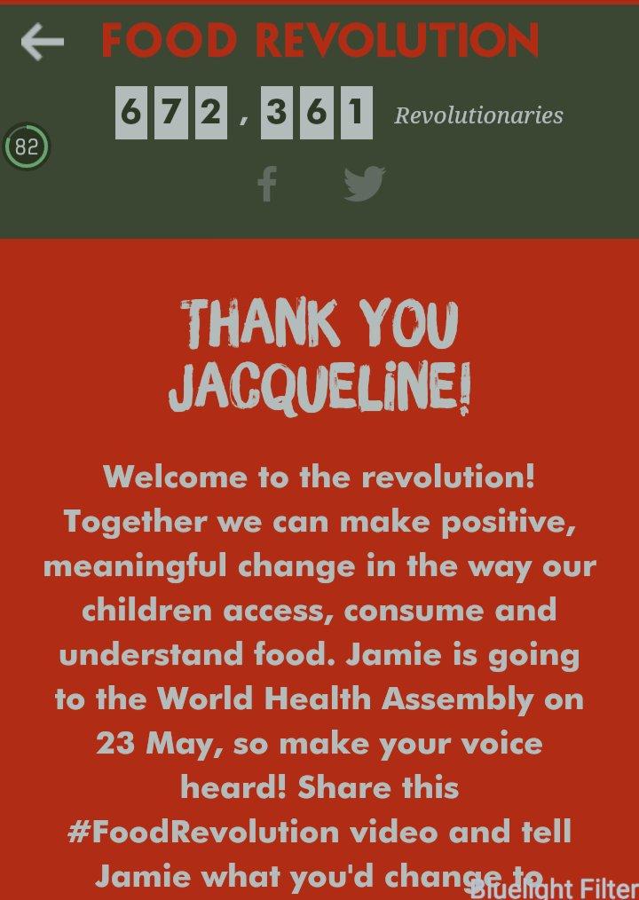 RT @Asli_Jacqueline: I've joined @jamieoliver's #FoodRevolution, have you? Go to https://t.co/JTU5uUdDQB & sign up NOW! https://t.co/d48y4d…