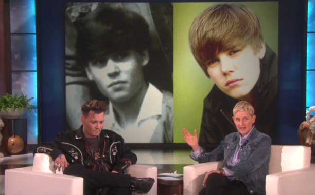 Young Johnny Depp looked just like Justin Bieber: 😂