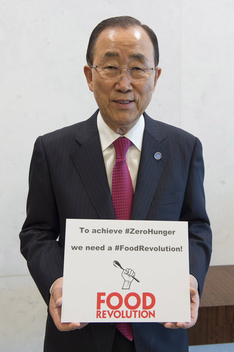 RT @ZeroHunger: To achieve #ZeroHunger we need a #FoodRevolution! Join @UN SG Ban Ki-moon & tweet your support! https://t.co/gO9S0kC91C