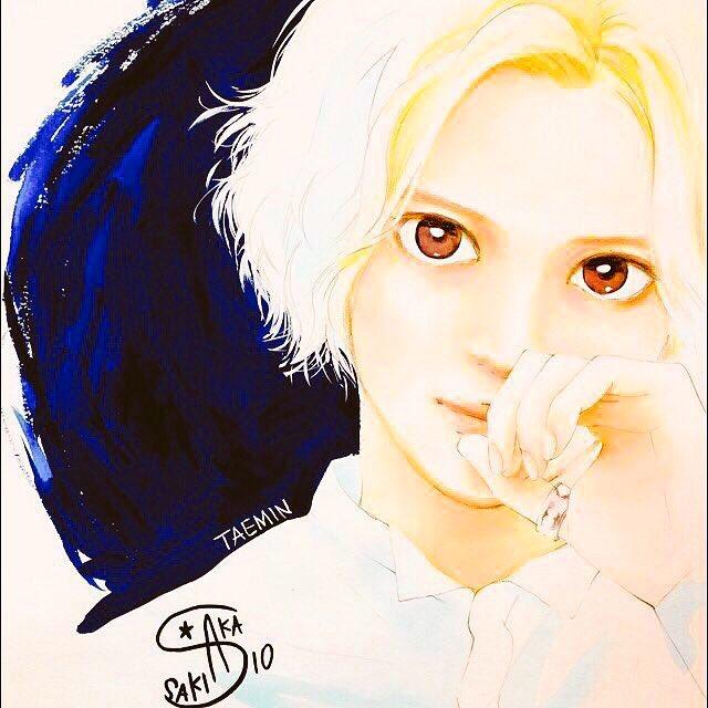 「アオハライド」の作者、咲坂伊緒さんの描いたテミンちゃん好きだな。良き