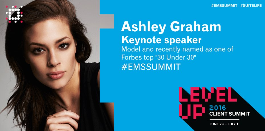 @theashleygraham to speak @ #EMSSUMMIT on progression towards becoming her own role model! https://t.co/1vf7pwR6be https://t.co/7Bf0NjHyIK