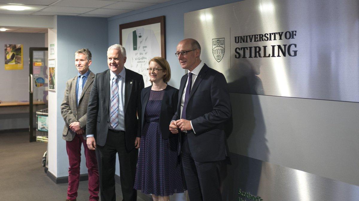 Welcome to @S_A_Somerville & @JohnSwinney – Mr Swinney making his first visit to a university as Education Secretary https://t.co/OazoIw8FpK