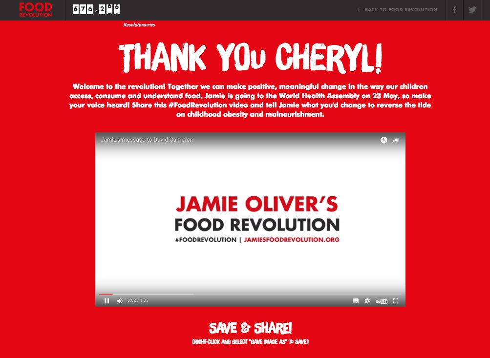 RT @CherylOfficial: I've signed up to join the #FoodRevolution! Please do the same https://t.co/eYyUEsAkPY @jamieoliver ???????? https://t.co/62o…