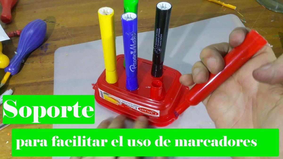 Soporte para facilitar el uso de marcadores