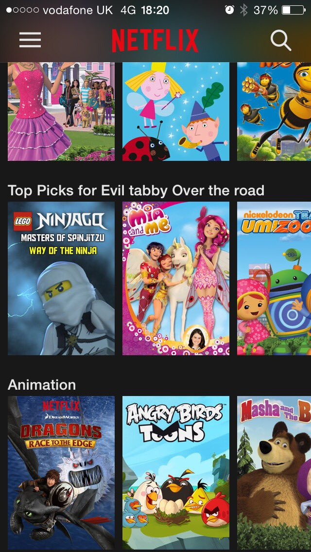 My eight year old seems to have set up a @NetflixUK profile for our neighbour's cat. https://t.co/XVGOtssuOB
