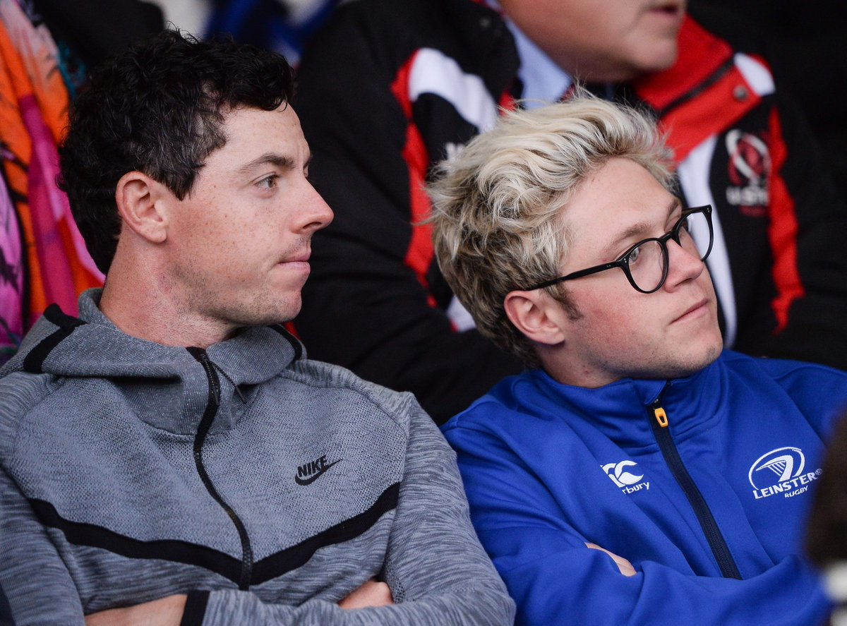 Welcome to the RDS @NiallOfficial and @McIlroyRory! Nice jacket, Niall... #LEINvULS https://t.co/jGyuP4lekO