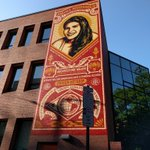 This is how our @OBEYGIANT mural looks in early morning sunshine. Corner of 15th & Race Sts. #Philly #VisitPhilly https://t.co/DKsAGXXT8m