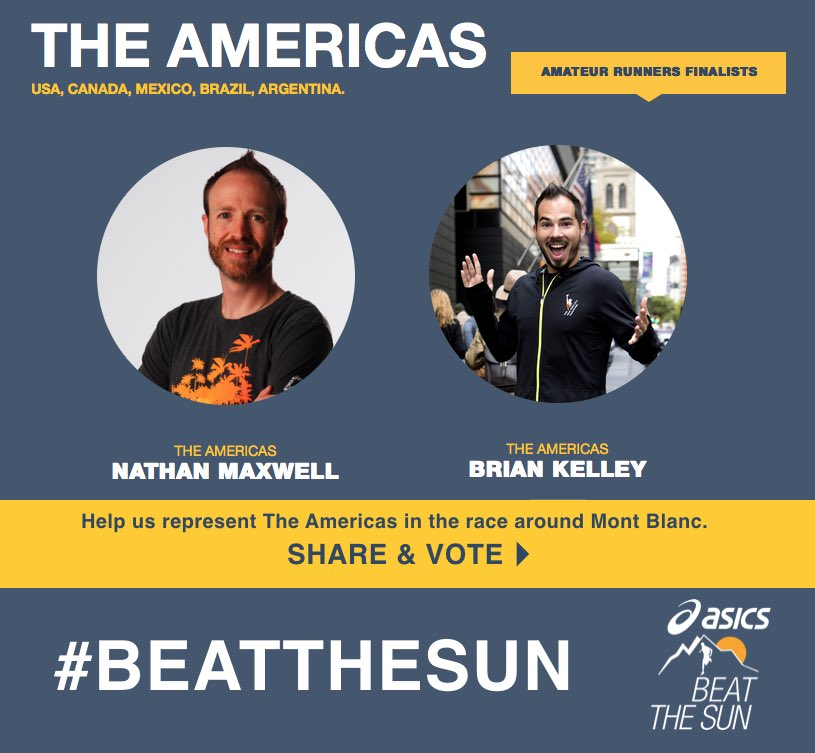 Only together as a team can we #BeatTheSun, help Brian & I show that we can!