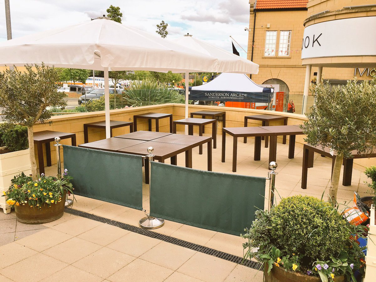 Our new outside space will be open tomorrow The Terrace at Morpeth Larder @SandersonArcade