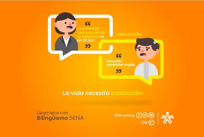 ¿Quieres aprender inglés gratis? Inscríbete en los cursos de #SENABilingüe ¡No pierdas oportunidades laborales! https://t.co/ZTOwL7NokD