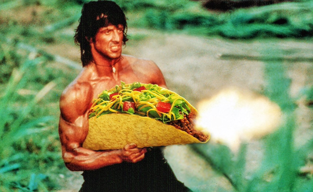 I just made this because. #TacosInsteadOfGuns #Rambo https://t.co/YlJwXvYpLB