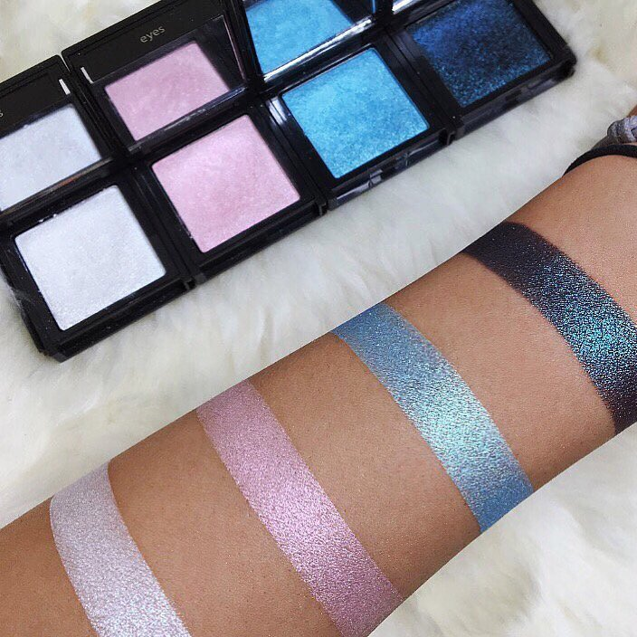 Mermaid Iridescent Eyeshadow Palette swatches by @miaumauve