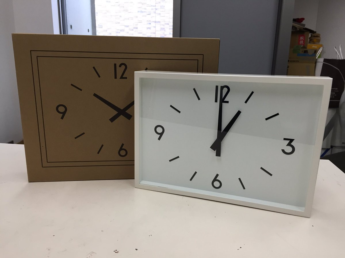 無印良品で売ってる「駅の時計」が思ったより駅の時計だった、ちなみに電波時計。 https://t.co/HM9yiJNHks