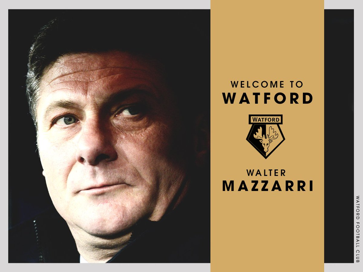 OFFICIAL: #watfordfc confirms it has reached agreement with Walter Mazzarri to become Head Coach from 1st July 2016. https://t.co/ExNAAxYnHK