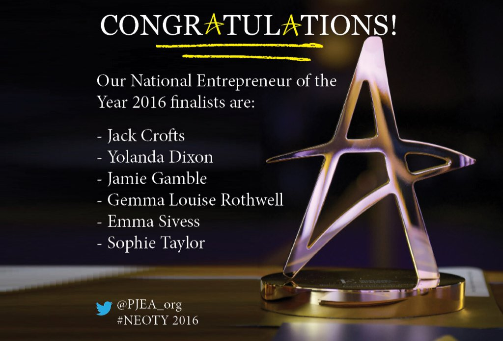 Congratulations to our six finalists! Find out more about them now at https://t.co/kFuPIKCGC4 #NEOTY2016 https://t.co/UMKQIVgMa3
