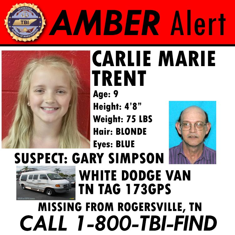 She should be going to school today. Instead, she remains the focus of an #AmberAlert. Help us #BringCarlieHome! https://t.co/q9IxI4Z5dl
