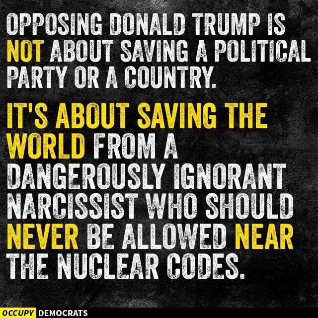 Dale RT!!! Dale like!!! Oponerse a @realDonaldTrump es salvar al mundo de un peligroso narcisista ignorante... https://t.co/tQg5HCyJqm