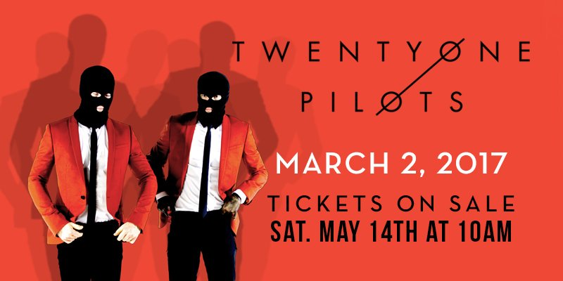 Just announced! Get ready for @twentyonepilots New Orleans! https://t.co/6RHY9bf14P https://t.co/VPLk8mSUya