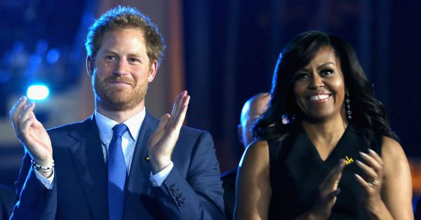 Michelle Obama helps Prince Harry launch the InvictusGames2016: