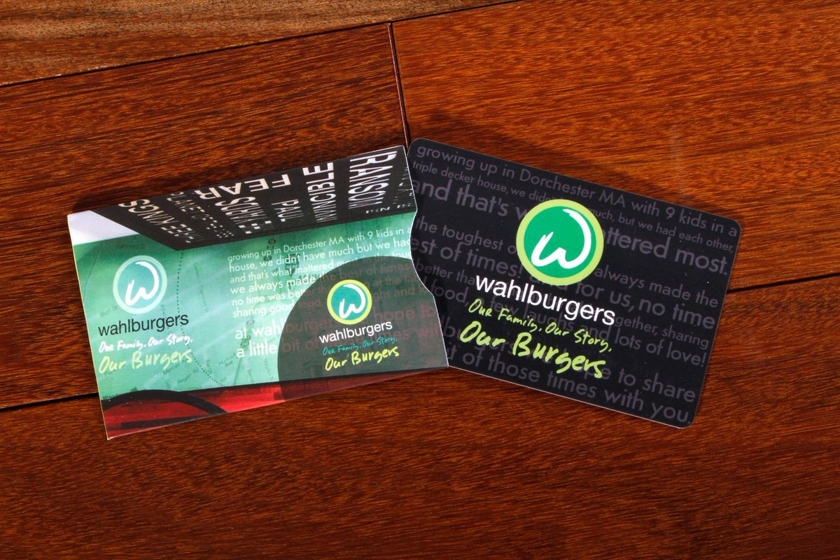 We've got a stack of #Wahlburgers GC's & we don't know what to do w/ them. RT this if you think we do a giveaway! https://t.co/l3NwIuMgJY